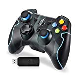EasySMX PS3 Controller, 2,4G Wireless Gamepad, Joysticks Dual Vibration Turbo für PS3 / Android Phone Tablet/Windows-PC (Tarnung)