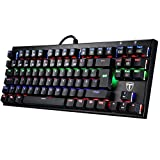 Mechanische Gaming Tastaturen, TOPELEK QWERTZ 87-Key Mini Gamer Tastaturen Gaming-tastaturen Spieltastatur, Mehr Farben Hintergrundbeleuchtung Keyclick für Gamer und Typisten