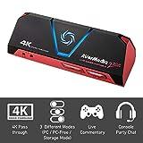 AVerMedia Live Gamer Portable 2 Plus, 4K Pass Through, 1080p60, Aufnahme, Stream, Plug and Play, Capture Card, für Desktop und Laptop, Ersteller auf YouTube und Twitch, OBS, Xbox, PS4, Skype (GC513)