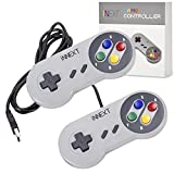 iNNEXT 2x USB SNES Gamepad/Controller für PC Windows 10 Mac Raspberry Pi C64 Mini retropie gamepad NES/SNES Emulator