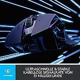 Logitech G502 LIGHTSPEED Kabellose Gaming-Maus (LIGHTSYNC RGB-Maus, 16.000 DPI, 11 programmierbare Tasten, Laptop/PC-Computermaus, 6 anpassbare Gewichte, HERO Sensor, Deutsche-Verpackung) schwarz