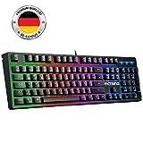 VicTsing RGB Tastatur meschanische Tastatur, Wired Keyboard (QWERTZ), mechanisches USB Tastatur.