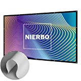 Projektionsleinwand, NIERBO Leinwand für Heimkino Beamer Gaming Streaming 3D HD Projektionsleinwand 16 9 227X132cm (100')