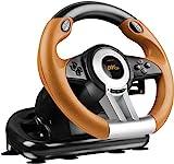 Speedlink Gaming Lenkrad für PS3 - DRIFT O.Z. Racing Wheel USB (Schaltknauf, Gas- und Bremse-Pedale - Vibration, 180° Lenkbereich  - Controller für Driving Games oder andere Simulator-Spiele) schwarz/orange
