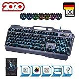 KLIM Lightning  NEU 2020  Hybrid Halbmechanische Tastatur QWERTZ DEUTSCH + Sieben Metallstruktur  Gamer Gaming-Tastatur fr Videospiele PC PS4 Xbox One