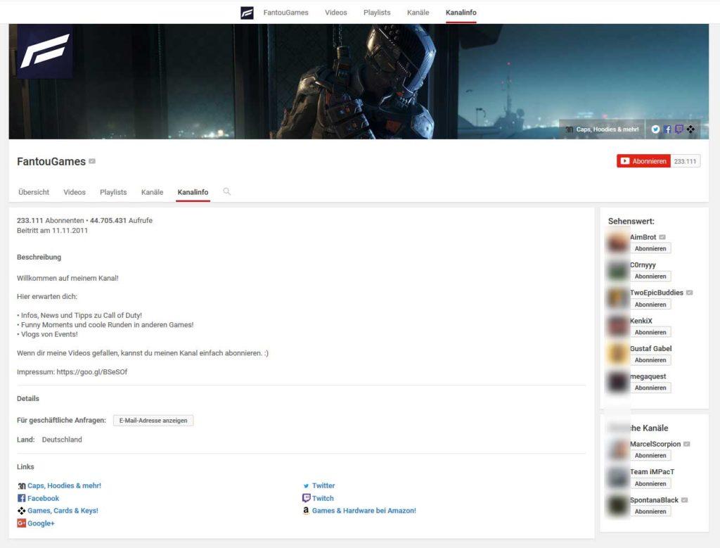 FantouGames-youtube-kanal